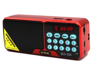 """贝恩斯 C06 """"1、全过UV钢琴烤漆,带精美手绳;                                                                2、一键开关机,播轮音量调节,硅胶按键带灯,          数字选曲,单曲循环;                                                                                                                        3、支持TF卡、"""