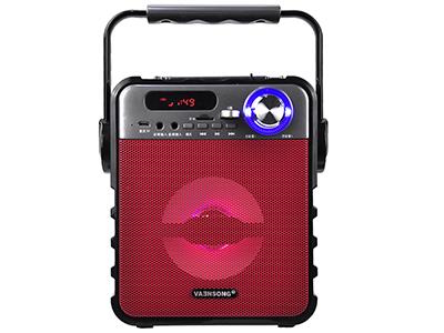 """万圣 T1A  (黑色  红色  蓝色) """"1,输出功率:5W 2,频率响应:100Hz-20KHz 3,信噪比:≥70dB 4,喇叭阻抗:4欧 5,喇叭尺寸:4寸 6,电源输入:DC5V:                     7:3.7V1800mA                         8.产品尺寸:W170*H175*D111mm"""""""
