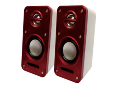 """宇时代 """"V-15 爱风"""" ABS原料壳,后置振动膜,使重低音更出众, 高音不失真,线控功放,简单大方,音量调节方便,用于台式电脑,手机,MP3等,"""