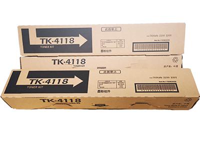 京瓷TK-4118粉盒 净重:500g 打印张数:17500  适用机型:KM-2200/2201