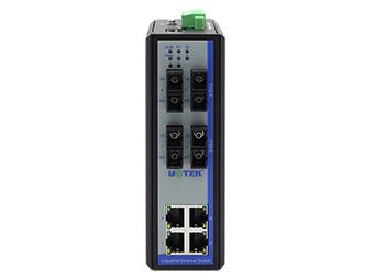 宇泰 UT-62208F系列 8+2G千兆网管型以太网交换机
