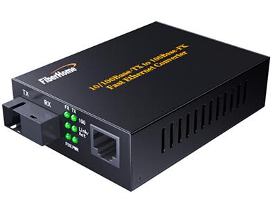 烽火L100CL-12B 光纤收发器 企业级百兆单模单纤20km一光一电SC接口光电转换器-A端