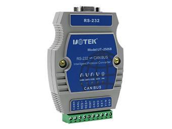 宇泰 UT-2505B  RS-232转CAN BUS智能协议转换器
