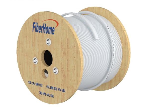 烽火(FiberHome)GJXH-1 室内金属蝶形缆单模1芯单芯 入户光纤线电信级皮线室内光纤光缆 100米
