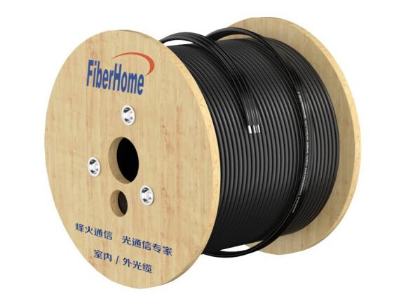烽火(FiberHome)GJYXCH-1 自承式金属蝶形缆单模1芯3钢丝 入户光纤线单芯皮线室内光纤光缆 50米