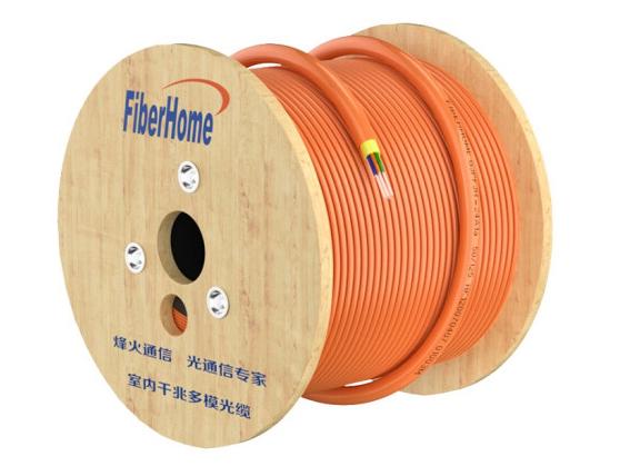 烽火(FiberHome)GJPFJH-4A1a OM2 电信级低烟无卤室内千兆多模4芯光缆光纤线 100米