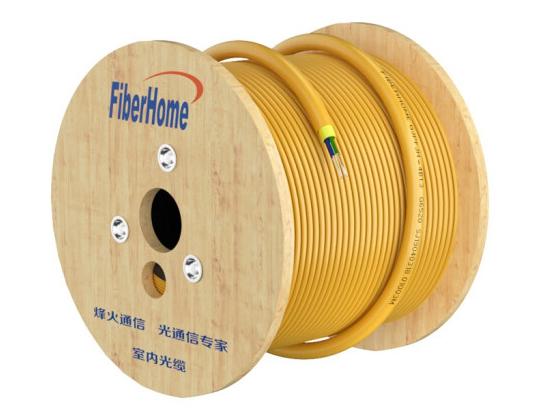 烽火(FiberHome)GJPFJH-8B 室内束状光缆电信级低烟无卤 光纤皮线单模8芯光纤线 100米