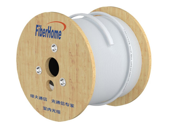 烽火(FiberHome)GJXH-2 室内金属蝶形缆单模2芯双芯 入户光纤线电信级皮线室内光纤光缆 50米