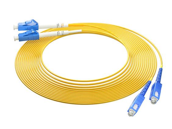 烽火(FiberHome)SC-LC-10M 光纤跳线 电信级单模双芯10米光纤熔接收发器尾纤