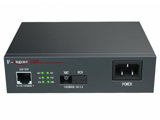 烽火(FiberHome)OL100CR-14B-220光纤收发器千兆单模单纤电信级光电转换器20km一光一电SC接口-A端
