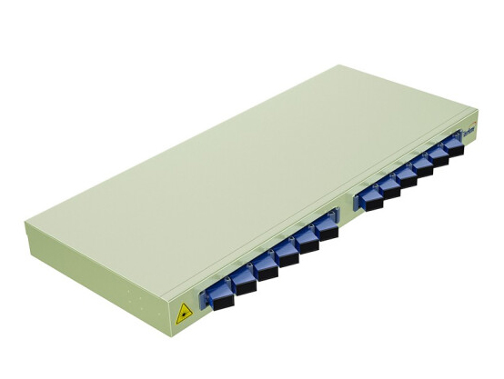 烽火(FiberHome)机架式光纤终端盒 尾纤光缆熔接盒SC/FC/LC接口 通用光纤续接盘配线架 12口SC单模满配12芯