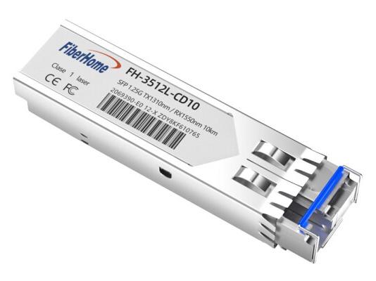 烽火(FiberHome)FH-3512L-CD10 SFP千兆单纤光模块LC口光转电模块1.25G光纤模块 10km A端1310/1550nm 1支