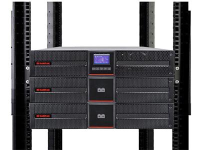 山特 PT1K UPS不间断电源机架式1000VA/1000W网络服务器机房备用电源 PT1K单机+PTB9042*2(满载70分钟)