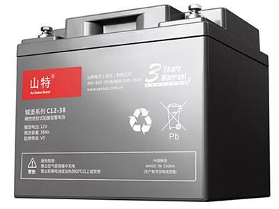 山特 UPS不间断电源 城堡系列 电池免维护机 房服务器专用阀控式铅酸蓄电池 C12-38AH