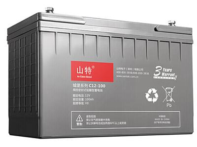 山特 UPS不间断电源 城堡系列 电池免维护机 房服务器专用阀控式铅酸蓄电池 C12-100AH