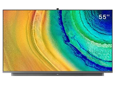 华为智慧屏V55i-B 55英寸 HEGE-550B 4K全面屏智能电视机 多方视频通话 AI升降摄像头 4GB+32GB 银钻灰