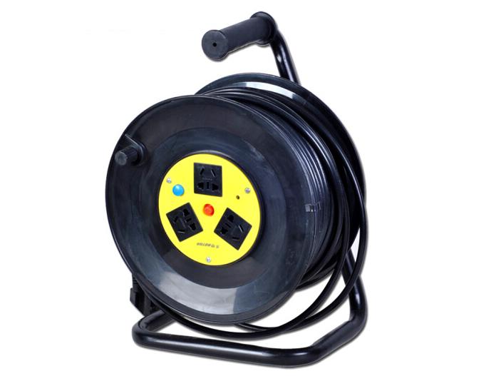 劳特(ROTOR) 25米50米线轴电缆线盘工程电源插座接线板 移动式电缆卷线盘过载保护 50米/过载保护