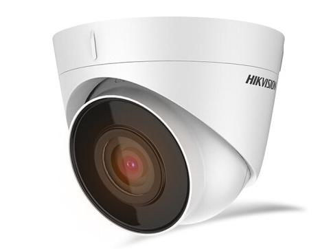 海康威视监控摄像头200万高清POE网线供电红外夜视商超学校室内半球移动侦测手机远程安装便捷T12-I 4MM