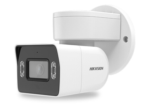 海康威视摄像头 手机远程200万白光全彩网络摄像机1080P网线供电双光夜视防水防尘DS-2CD3T26WD-LP 4mm