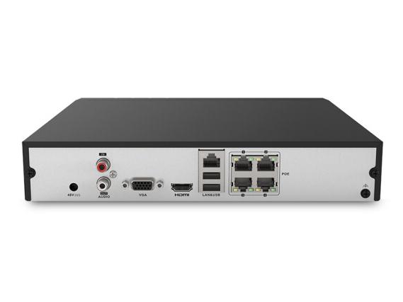 海康威视网络监控硬盘录像机 4路带网线供电 H.265编码 高清监控录像机 DS-7804N-K1/4P