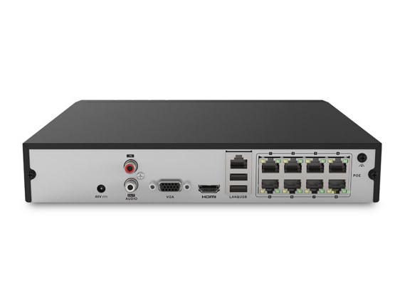 海康威视智能录像机 网络监控录像机 8路1080P高清监控录像机 POE供电 DS-7808N-K1/8P