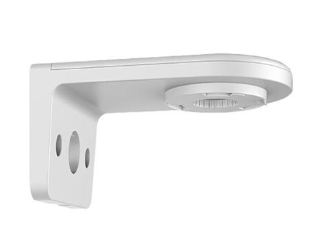 海康威视 监控鸭嘴支架 弧形摄像头金属壁装万向支架 4223IW-D球机支架 吊装支架 【PT海螺壁装支架白色】