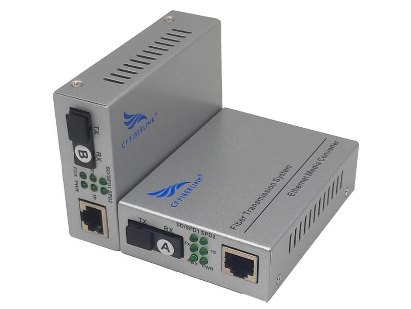 长飞 千兆 一光1电 单模单纤 CF-101GSW-3千兆自适应光纤收发器: 光纤收发器(也称光电转换器)是将10/100/1000M以太网的电接口与光接口之间的转换