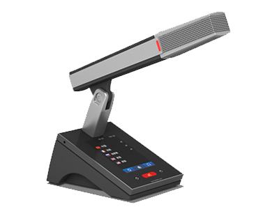 """臺電  HCS-4891RD/50 代表單元 獨創的 MCA_STREAM 數字處理和傳輸技術 一條 6 芯電纜傳輸 64 種語言和各種信息 支持48kHz音頻采樣頻率,64通道頻率響應均可達30 Hz~20 kHz 長距離傳輸對音質不會有任何影響 """"環形手拉手""""連接,系統更可靠 分機單元麥克風增益和EQ獨立可調 會議主機具有光纖接口,使得遠距離的會議室合并成為現實 主機與電腦用TCP/IP連接方式 可實現會議系統的遠程控制,遠程診斷和升級 內置多路的內部通訊功能 系統電源可通過中控系統進行集中控制管理 多種方式的會議室合并/"""