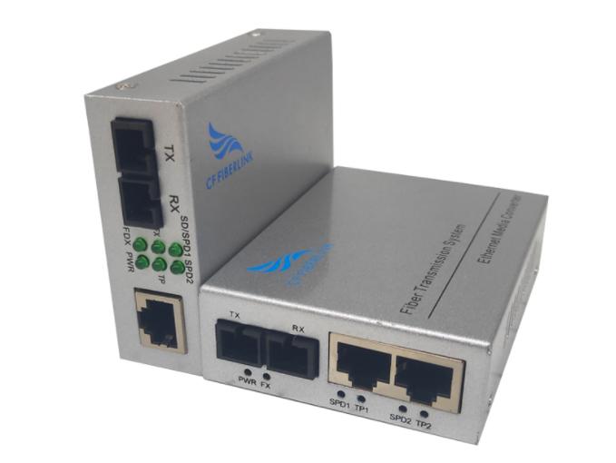 长飞 千兆 一光2电 单模双纤 CF-102GSW-20多电口光纤收发器(又称光纤交换机)是将以太网的电接口与光接口之间的转换