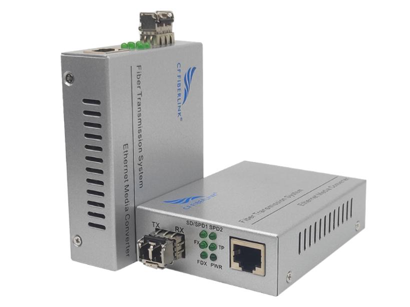 长飞 千兆 一光1电 SFP光纤收发器 CF-1000W-SFP 光纤收发器(也称光电转换器) 是将10/100/1000M以太网的电接口与光接口之间的转换