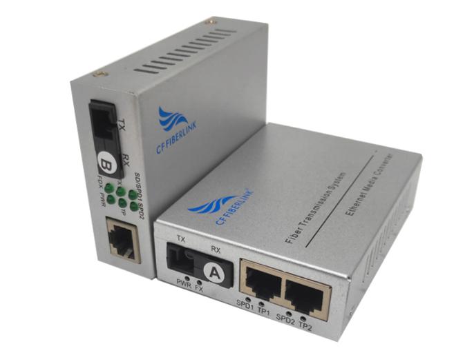 长飞 百兆 一光2电 单模单纤 CF-1012SW系列以太网光纤交换机是一款通过10Base-T或100Base-TX到100Base-FX之间的光电转换