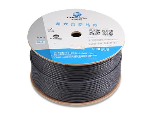 秋叶原 F/FTP超六类局部区域网络电缆灰色100米Q2641AT100S