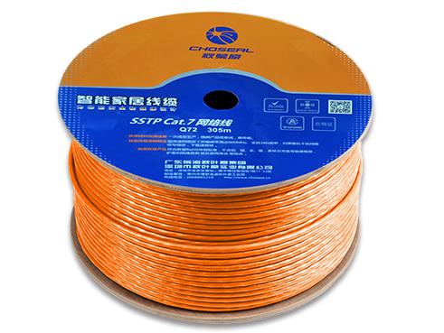 秋叶原 双屏蔽七类网络线缆 橙色305米Q72T305