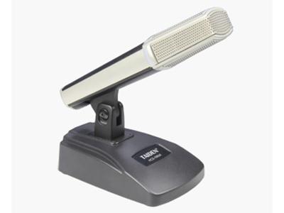 臺電  HCS-1860A 桌面式電容話筒 精致典雅的結構設計,符合人體工程學,極具現代氣息 駐極體心形單指向性話筒 全金屬方柱形話筒,俯仰角度可調 超強抗手機干擾能力 背面3針卡儂公頭插座,作為話筒信號輸出端 低阻抗的平衡音頻輸出 可廣泛應用于會議、演講、教學等各種場合