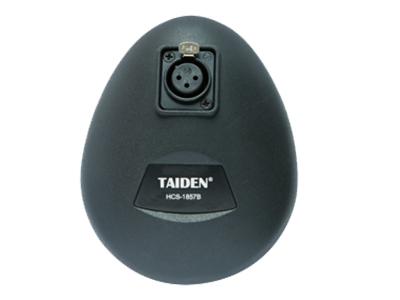 臺電  HCS-1857B 桌面式話筒座 精致典雅的結構設計,符合人體工程學,極具現代氣息 設計用于增強拾音、會議、電視廣播、專業錄音等高質量要求的拾音應用 雙鵝頸式彎曲調節結構,可以任意地將麥克風調整到合適的位置 附防風海綿罩,可減低在講話時收到不雅的噴氣聲及其他風聲的情況出現 駐極體電容式心形單指向性話筒 超強抗手機干擾能力 內置音頭前置供電及放大器組件,需要外接直流11 V至52 V幻象供電工作 內置高質量低頻衰減電路 簡捷、快速的安裝方式 低阻抗的平衡音頻輸出 桌面式話筒座可配套于其他3針卡儂公頭的話筒裝置使用