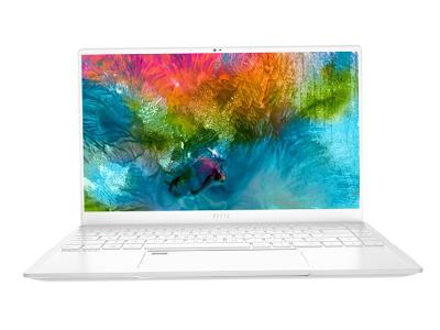 微星 尊爵Prestige14纯净白 14英寸轻薄设计师笔记本电脑(十代i7 16G 512G SSD GTX 1650MQ 双雷电3)