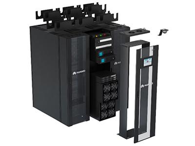 华为FusionModule800小型智能模块化数据中心 FusionModule800主要应用于分支网点机房,提供基础设施一体化解决方案,广泛应用于金融、政府、教育、医疗、公安、中小企业等小型机房。 FusionModule800单模块总功率小于等于15kW,支持1~8个柜位。该方案打破传统建设模式,将解决方案产品化。创新的采用机架式高密变频空调,单柜一体化集成配电、UPS、监控、空调,深度整合数据机房4大核心系统,现场2天完成业务上线,高效快速