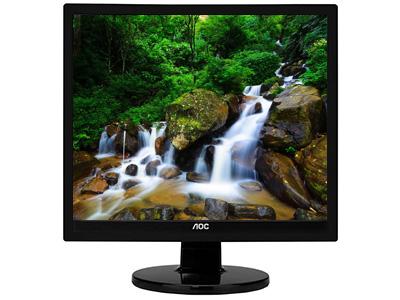 AOC  E719SD/WW17寸方屏 TN屏 4:3  1280*1024  250 cd/m2  20000000:1 5ms 60HZ  170°/160°(CR>10)  VGA  DVI  可壁挂  白色