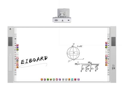 方成 红外白板一体机 多人同时书写 内置音箱 拓展性强 图像采集设备 智能控制 无缝设计