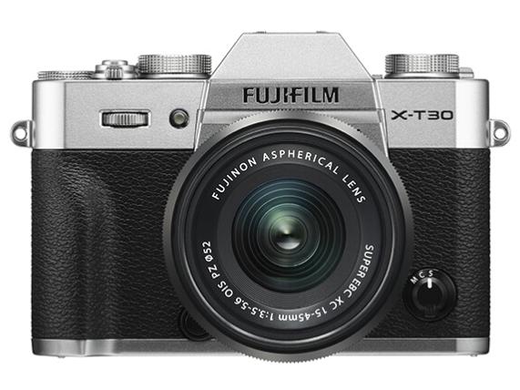 富士(FUJIFILM)X-T30/XT30 微单相机 套机 银色(15-45mm镜头 ) 2610万像素 4K视频 蓝牙WIFI