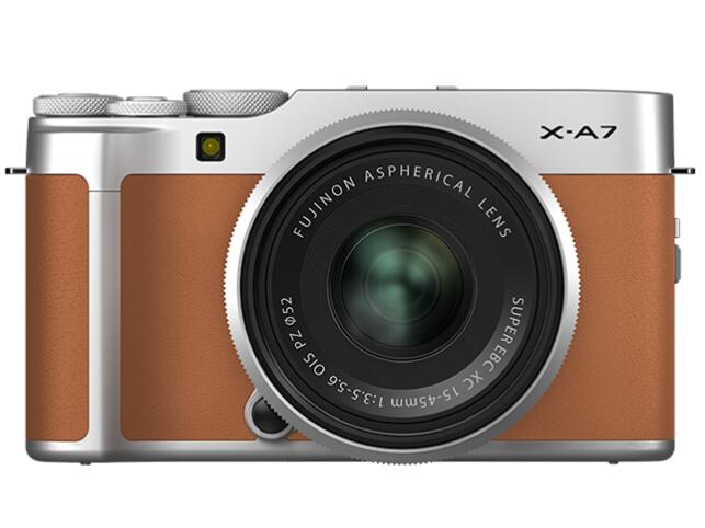 富士(FUJIFILM)X-A7/XA7 微单相机 套机 星光棕(15-45mm镜头 ) 2420万像素 自拍美颜vlog相机 蓝牙WIFI