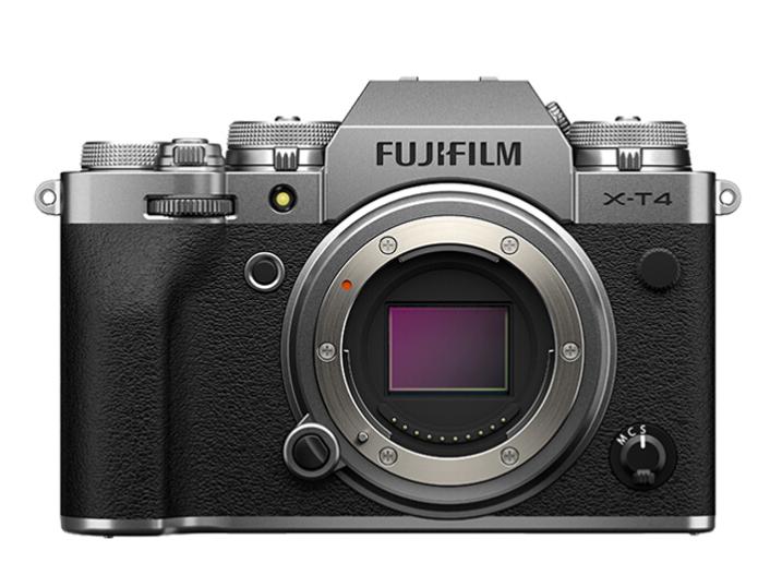 富士(FUJIFILM)X-T4/XT4 微单相机 单机身 2610万像素 五轴防抖 视频强化 续航增强 银色