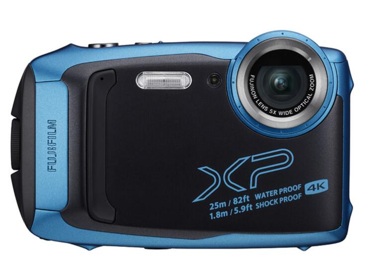 富士(FUJIFILM)XP140 运动相机 防水防尘防震防冻 5倍光学变焦 WIFI 光学防抖 蓝牙 天空蓝
