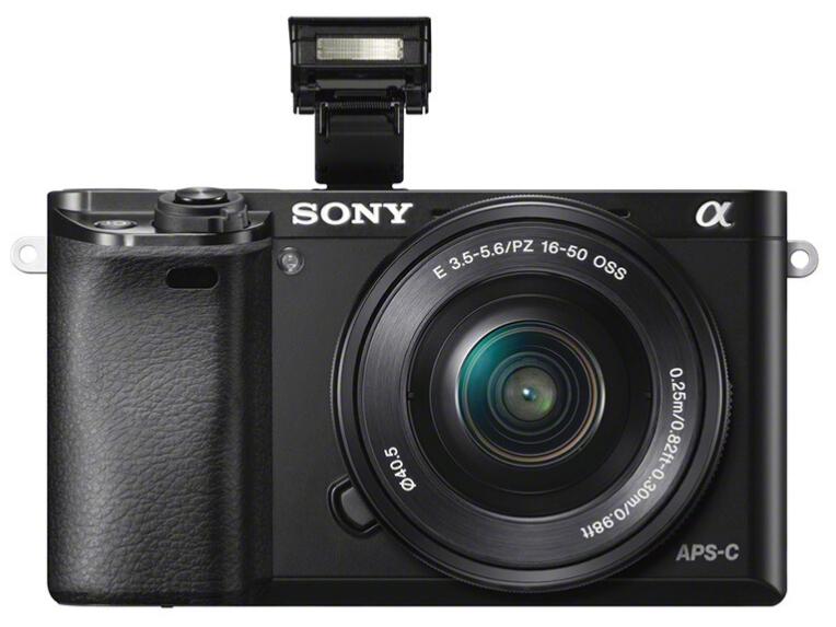 索尼(SONY)Alpha 6000L APS-C微单数码相机标准套装 黑色(约2430万有效像素 E PZ 16-50mm镜头 a6000)