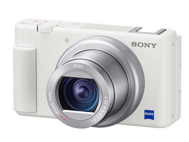 索尼(SONY)ZV-1 Vlog数码相机 白色(ZV1) 4K视频/美肤拍摄/强悍对焦 Vloger必备