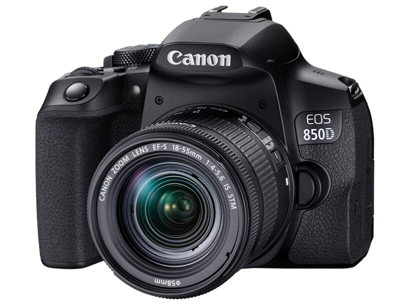 佳能(Canon)EOS 850D 单反相机 单反套机 (EF-S 18-55mm f/4-5.6 IS STM 单反镜头)