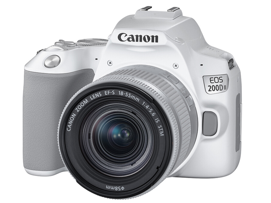 佳能(Canon)EOS 200D II 200D2 迷你单反相机 数码相机(EF-S18-55mm f/4-5.6 IS STM)白色 Vlog相机视频