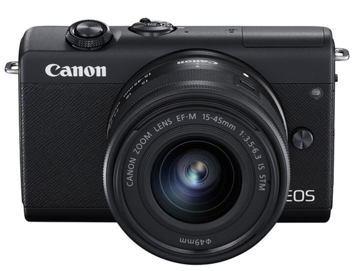 佳能(Canon)EOS M200 微单相机 数码相机 黑色套机(15-45 微单镜头)Vlog相机 4K 视频拍摄