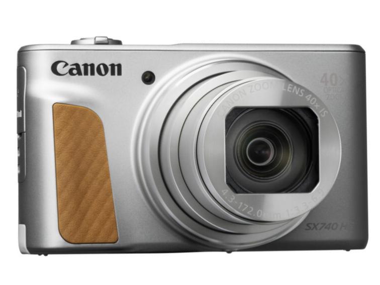 佳能(Canon)PowerShot SX740 HS 数码相机(银)数码高清旅游小型摄影 美颜自拍 40倍长焦家用数码相机
