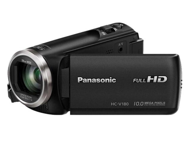 松下(Panasonic) V180 直播家用高清便携DV 录像机录影机摄影机摄像机 90倍智能变焦